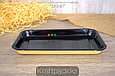 Лоток для кулинарии, сервировки и фасовки нарезок, овощей BLACK 200*110 (Eco Platter 400) DoEco (300), фото 5