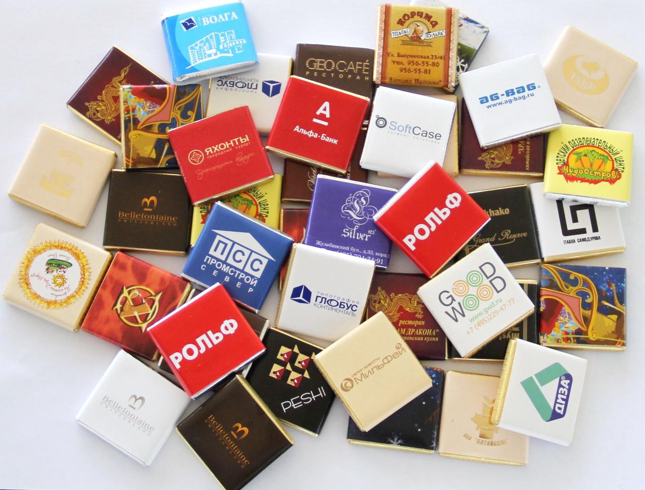 Шоколад с Вашим логотипом , изображением
