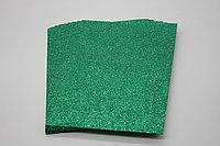 Фоамиран глиттерный (зелёный) - 10 листов