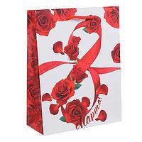 Пакет ламинированный вертикальный «Международный женский день», ML 23 × 27 × 8 см
