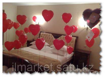 Гелиевые шары сердца на день влюбленных - фото 2