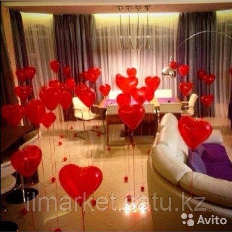 Гелиевые шары сердца на день влюбленных - фото 3