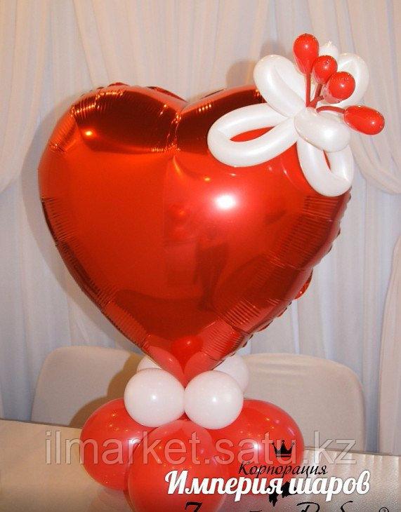 Гелиевые шары сердца на день влюбленных - фото 5