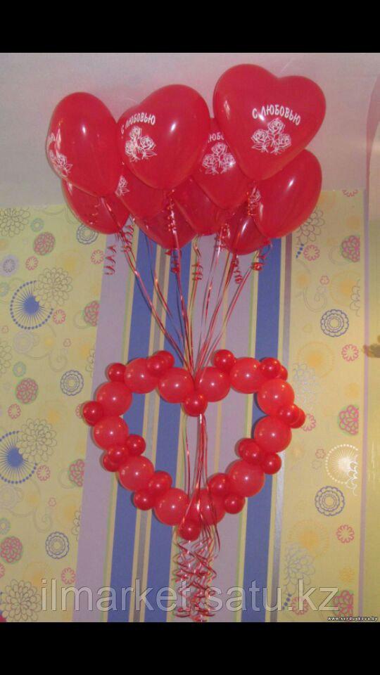 Гелиевые шары сердца на день влюбленных - фото 6