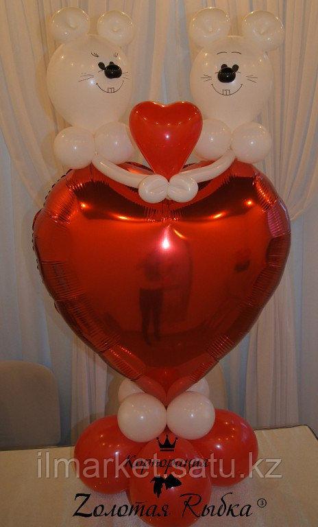 Гелиевые шары сердца на день влюбленных - фото 7