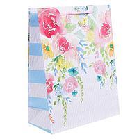 Пакет ламинированный вертикальный «Самой нежной!», ML 23 × 27 × 8 см