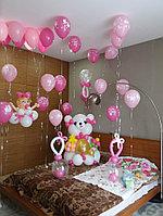 Оформление шарами на рождение девочки