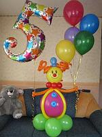 Клоун на день рождение и шары