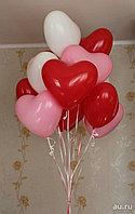 Сердечки (красные, розовые, белые)