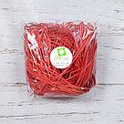 Бумажный наполнитель для оформления подарков. Цвет - Красный 30 гр., фото 2