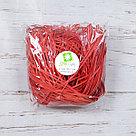 Бумажный наполнитель для оформления подарков. Цвет - Красный 100 гр., фото 2