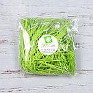 Бумажный наполнитель для оформления подарков. Цвет - Зеленый  (HP) 100 гр., фото 2