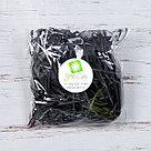 Бумажный наполнитель для оформления подарков. Цвет - Черный 100 гр., фото 2