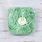Бумажный наполнитель для оформления подарков. Цвет - Зеленый 100 гр., фото 2
