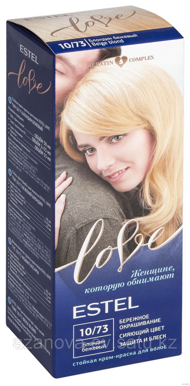 """Крем-краска для волос """"Estel Love"""" (тон: 10/73, блондин бежевый)"""