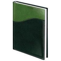 "Ежедневник BRAUBERG недат,, А5, 138х213 мм, ""Bond"", под комб.кожу с волной, 160 л., зеленый/салат., 126219, фото 1"