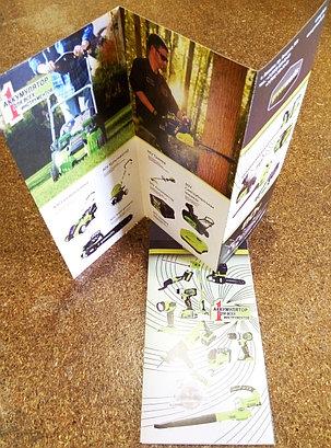 Буклеты А4 фальцованные в размер 210*99, фото 2