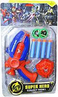 Немного помятая!!! 01-16 Оружие мстителей и часы SUPER HERO COLLECT THEM 38*22, фото 1