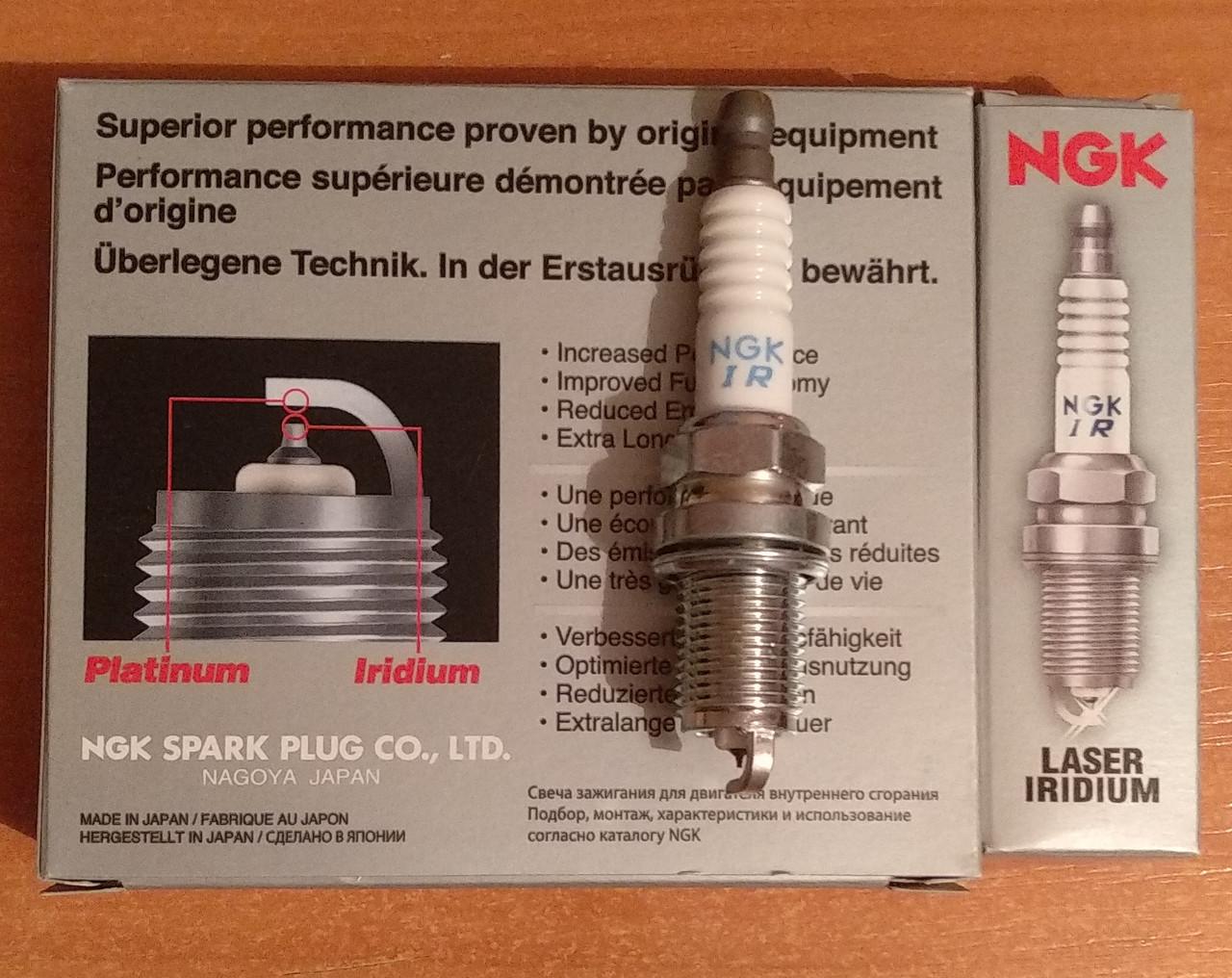 Свеча зажигания NGK IFR5J11 Iridium 7418 (09482-00549)