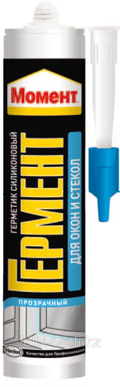 Герметик силиконовый МОМЕНТ для окон и стекол (прозрачный), 280 мл.