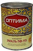 """Эмаль ПФ-115 """"Оптима"""" зеленая 0.9кг"""