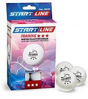 Шарики для настольного тенниса TRAINING 3*, 6 мячей в упаковке, белые