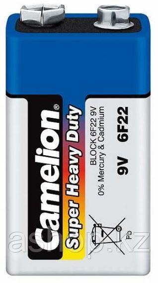 Батарейка Camelion 6F22-SP1B 9 В, Упакова: Термоусадочная упаковка 1 шт., Аналоги: 6А22\1604D\Крона, Тип батар