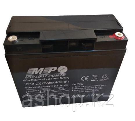 Батарея необслуживаемая (аккумулятор) Multiple Power NPD12-20 (12V 20 Ah), Емкость аккумулятора: 20 Ah, Разъем