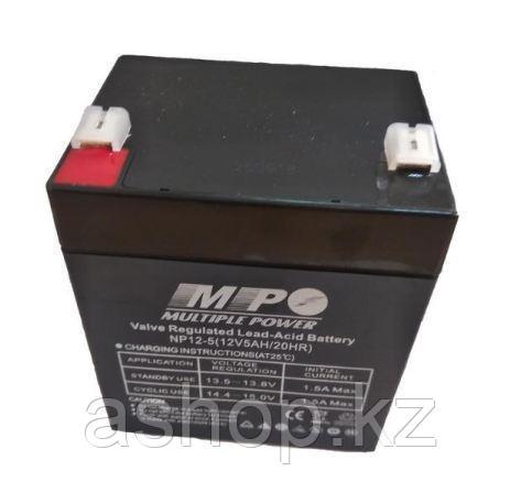 Батарея необслуживаемая (аккумулятор) NPP NP1250 (12V 5 Ah), Емкость аккумулятора: 5 Ah, Разъемы: F1/F2