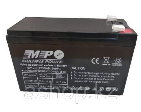 Батарея необслуживаемая (аккумулятор) Multiple Power NP1290 (12V 9 Ah), Емкость аккумулятора: 9 Ah, Разъемы: F