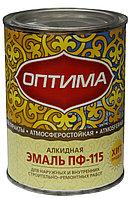 """Эмаль ПФ-115 """"Оптима"""" ярко-зеленая 0.9кг"""