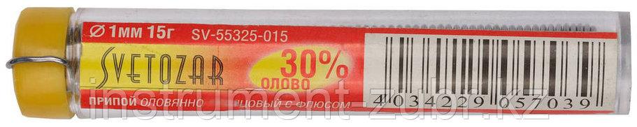 Припой СВЕТОЗАР оловянно-свинцовый, 30% Sn / 70% Pb, 15гр, фото 2