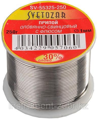 Припой СВЕТОЗАР оловянно-свинцовый, 30% Sn / 70% Pb, 250гр, фото 2