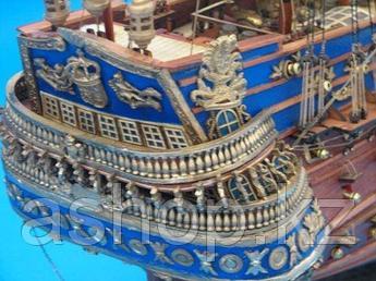 Статуэтка настольная Handcrafted Nautical Decor Корабль San Felipe, Высота: 320 мм, Материал: Полистоун, Цвет: