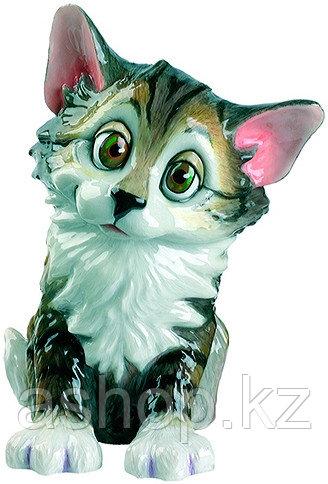 Статуэтка декоративная Arora Кошка Бэлла, Высота: 180 мм, Материал: Керамистоун, Цвет: Разноцветный, (558)