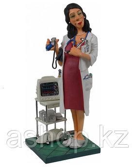 Статуэтка декоративная Forchino Мадам доктор, Высота: 240 мм, Материал: Полистоун, Цвет: Красно-белый, (FO8400