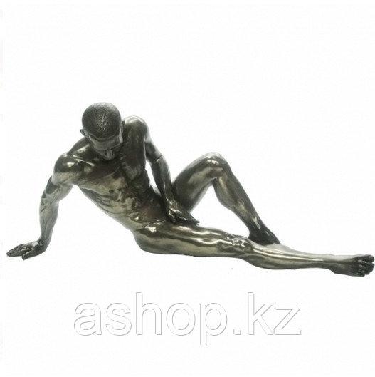Статуэтка декоративная Veronese Design Artistic Nudes WU75076А1, Высота: 120 мм, Материал: Полистоун, Цвет: Бр