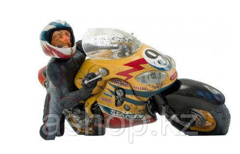 Статуэтка декоративная Forchino Мотогонщик, Высота: 370 мм, Материал: Полистоун, Цвет: Разноцветный, (FO85057)