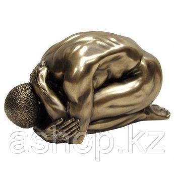 Статуэтка декоративная Veronese Design Artistic Nudes WU71751А1, Высота: 80 мм, Материал: Полистоун, Цвет: Бро