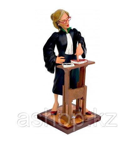 Статуэтка декоративная Forchino Леди адвокат, Высота: 420 мм, Материал: Полистоун, Цвет: Разноцветный, (FO8551