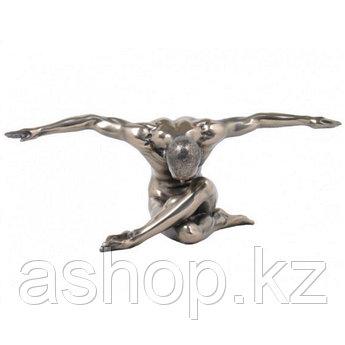 Статуэтка декоративная Veronese Design Artistic Nudes WU74907А1, Высота: 110 мм, Материал: Полистоун, Цвет: Бр