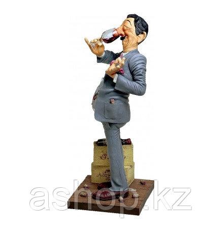 Статуэтка декоративная Forchino Дегустатор, Высота: 440 мм, Материал: Полистоун, Цвет: Телесный (фигурка), сер