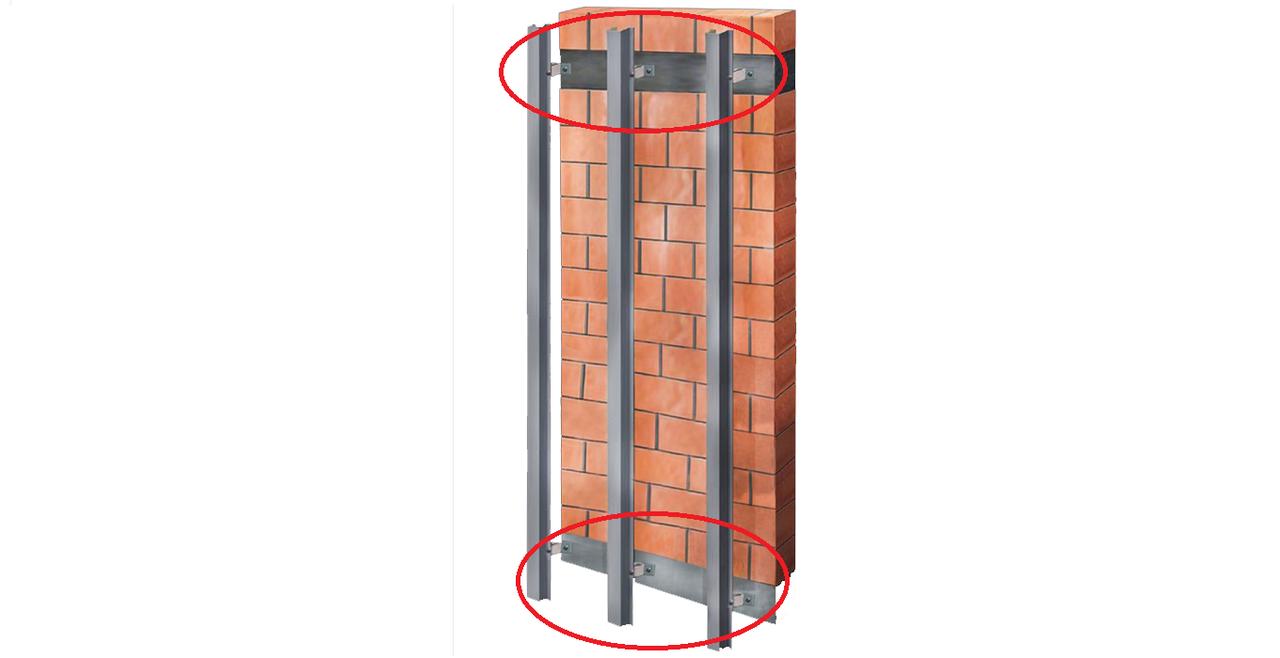 Кронштейн крепежный межэтажный Г-образный (1.2 мм)