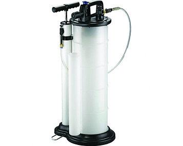 Установка для откачки масла с двумя режимами (ручной и пневматический), ёмкость 9 л., 3 щупа