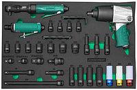 """Набор пневматического инструмента 1/2""""DR и аксессуаров к ударному инструменту в EVA ложементе 560х400 мм, 31"""