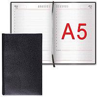 """Ежедневник BRAUBERG недатированный, А5, 138х213 мм, """"Select"""", под зернистую кожу, 160 л., черный, 123429"""