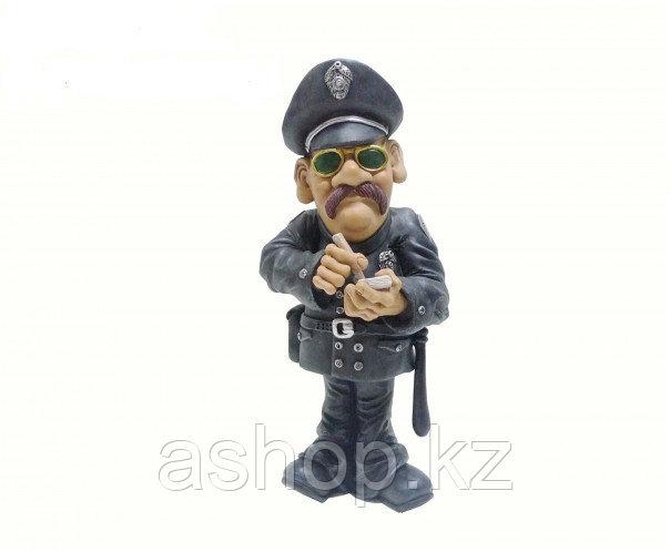 Статуэтка декоративная RMV Полицейский, Высота: 250 мм, Материал: Полимер, Цвет: Серый, (FС 30225)