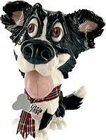 Статуэтка декоративная Arora Собака Бордер-колли Гип, Высота: 155 мм, Материал: Керамистоун, Цвет: Разноцветны