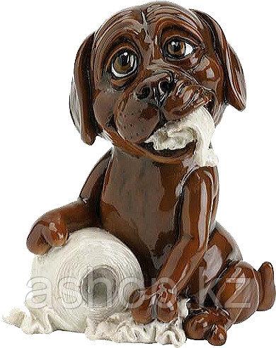 Статуэтка декоративная Arora Собака Лабрадор Трюфель, Высота: 120 мм, Материал: Керамистоун, Цвет: Коричнево-б