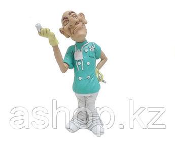 Статуэтка декоративная RMV Стоматолог, Высота: 243 мм, Материал: Полимер, Цвет: Бирюзово-белый, (FС 30218)